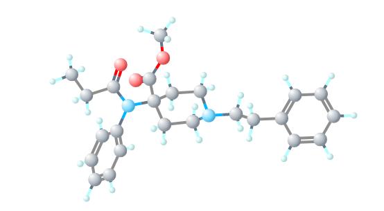 Carfentanil-molecule